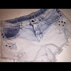Zara Jean Shorts Premium Wash Sz 8